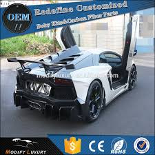 lamborghini aventador replica replica lp700 changed to d style carbon rear bumper for