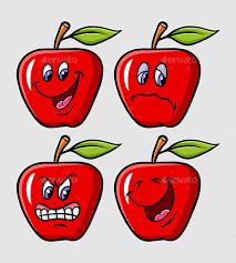 apple cartoon apple cartoon expression by comicvector703 graphicriver