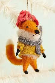 cottage fox ornament anthropologie decor