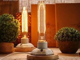 Edison Table Lamp Vintage Wood Porcelain Table Lamp In Industrial Loft Style Edison