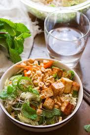 noodle salad recipes vietnamese rice noodle salad with hoisin glazed tofu connoisseurus veg