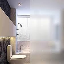 How To Frost A Bathroom Window Amazon Com Privacy Window Film 35 5 U0027 U0027 By 78 8 U0027 U0027 Decorative Static