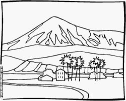 Coloriage De Paysage De Montagne Of 33 Dessins De Coloriage Paysage
