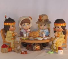 thanksgiving ceramic figurines thanksgiving pilgrims indians