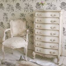 delphine distressed shabby chic white tallboy chest
