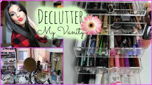 How To Organize A Vanity Table Organize My Makeup Collection Makeup Vanity Youtube
