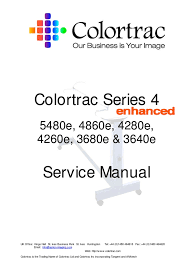 colortrac s4e service manual 2 charge coupled device image scanner