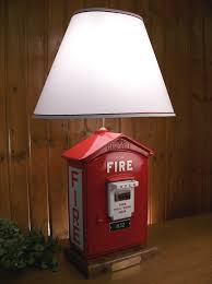 Firefighter Home Decorations Fire Alarm Box Lamp Home Decor Pinterest Box Firefighter