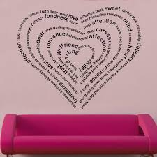 heart words decal wall sticker vinyl art shop sticker vinyl wall art zoom