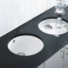 Inset Sinks Kitchen by Astracast Lincoln Round Bowl Ceramic Undermount Inset Sink Gloss