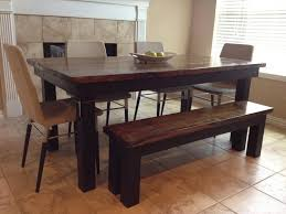 Best Farmhouse Tables Images On Pinterest Stains Farmhouse - Black dining table with wood top