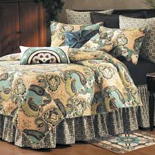 Paisley Comforters Bed Cover Design With Greenland Home Blooming Prairie Quilt Sets