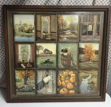 vintage home interior pictures vintage home interior homco b mitchell window pane picture rustic