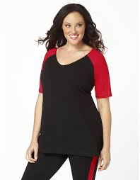 plus size baseball shirt black with sleeves