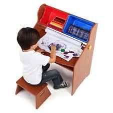 The Desk Set Play Tot Tutors Focus Wood Art Activity Desk And Stool Set Toys