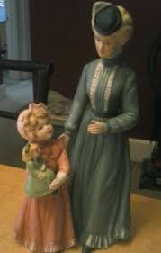 sundays best victorian lady porcelain figurine by home interiors