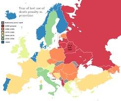 map usa penalty year of last use of penalty in peacetime in europe map