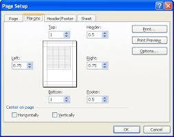 centering your worksheet microsoft excel