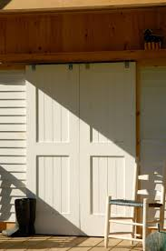 Trustile Exterior Doors Decor White Wood Panel Sliding Trustile Doors For Transitional