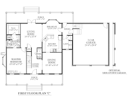 1 story house floor plans houseplans biz house plan 2341 c the montgomery c