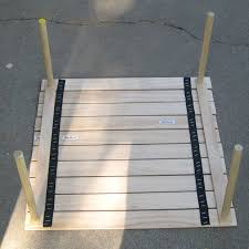 Diy Collapsible Picnic Table by Make A Collapsable Table For Concerts In The Park Diy Picnic