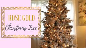 decorate with me rose gold christmas tree 2017 simply earth