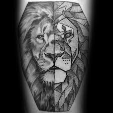 60 geometric animal tattoo designs for men cool ink ideas