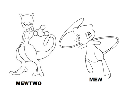legendary pokemon coloring pages mewtwo mew coloringstar