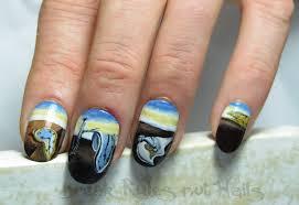 nail art on fake nails break rules not nails