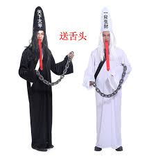ghost costume cos black and white impermanence ghost costume send