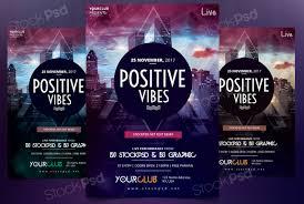 get positive vibes flyer template flyershitter com