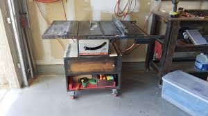 timbo u0027s creations vintage table saw cart work bench 1