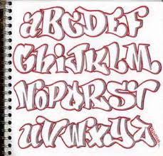 design sketch graffiti alphabet letters in the paper