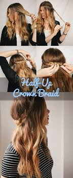 easy hairstyles not braids how to nail the half up crown braid in 5 easy steps crown