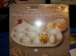 ceramic deviled egg platter barny do all 285 ceramic devilled egg plate new 15 00 brand