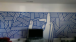 3 rolls of blue tape 6 hours boredom new wall mural for my 3 rolls of blue tape 6 hours boredom new wall mural for my