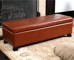 storage ottoman bench brown brown leather storage ottoman square with shelf bonded bottom pics