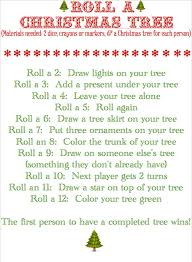 blissful roots roll a christmas tree game a fun thing to do for