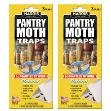 Moths In Kitchen Cabinets Harris Pantry Moth Traps With Lure 6 Trap Value Pack Pmtrp 2pk
