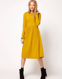 asos asos midi dress with sleeve