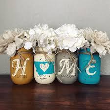 montana home decor turquoise and yellow montana home mason jar set rustic home
