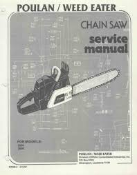 poulan 2800 3300 chainsaw workshop downloadable pdf service and
