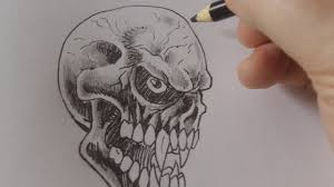 how to draw vire skulls