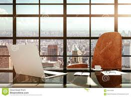 Laptop Desk Accessories by Modern Workplace With A Laptop And Office Accessories At Sunrise