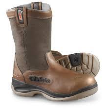 men u0027s rocky ergotuff cool wellington boots brown 597363 work