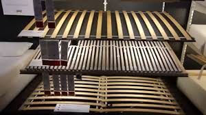 ikea slatted bed base 30 slats queen kitchen review youtube