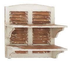 amazon com benzara double decker cool wood wall shelf home u0026 kitchen