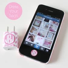 Iphone Home Button Decoration Free Printables Monogrammed Iphone Charger Labels Perfect Way Not