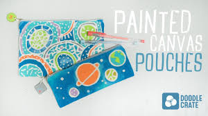 painted canvas pouches tutorial doodle crate project tutorial