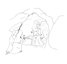 joyful mysteries rosary coloring pages for angel appears to mary
